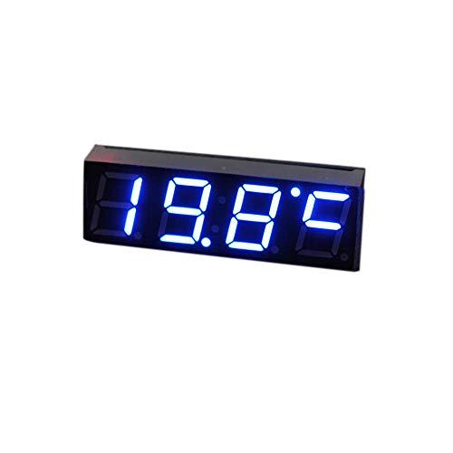 NXSP Auto Elektrische Klok, Digitale Timer LED Temperatuur Auto Vervangende Onderdelen Thermometer Voltmeter LED Display Groen Blauw Rood Licht