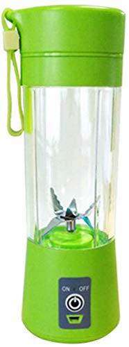 WQF Taza exprimidora USB, licuadora portátil de 400 ml, Recargable por USB, Taza de Jugo de Vegetales y Frutas, batidora de Botellas, Extractor de Jugo, licuadora de Jugo portátil, Mezclado