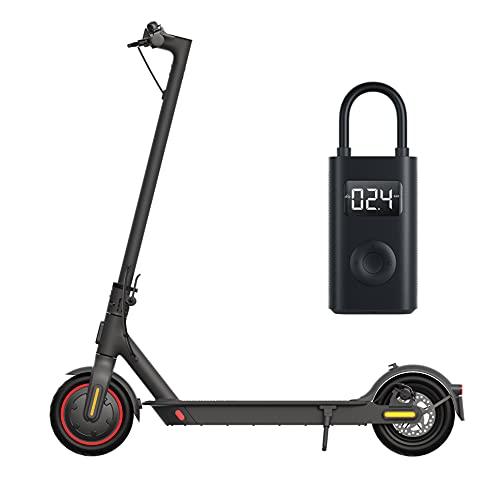 Xiaomi Mi Electric Scooter Pro2 E-Scooter (Straßenzulassung, max 20km/h, max Reichweite 45km, LED Anzeige, App) + Mi Portable Electric Air Compressor Akku Luftkompressor (0,2-10,3 Bar, Anzeige, USB)