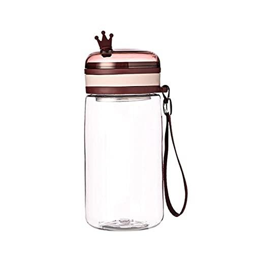 Botella de Agua Moda Linda Taza Agua Prueba Fugas con Drenaje Cuerda Taza Agua Resistente Altas Temperaturas Prueba CaíDas Taza Para Deportes 632ML rojo