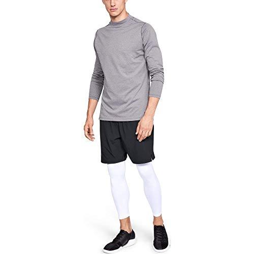 Under Armour Men's ColdGear Armour Compression Leggings, White (100)/Steel, Large