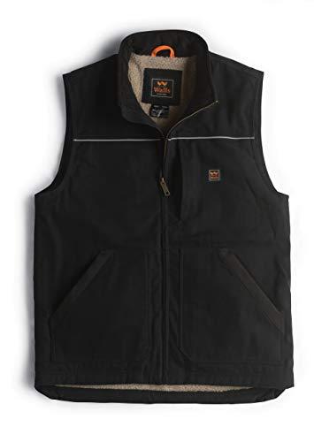 Walls Men's Super Duck Lined Vest, Midnight Black, Extra Large