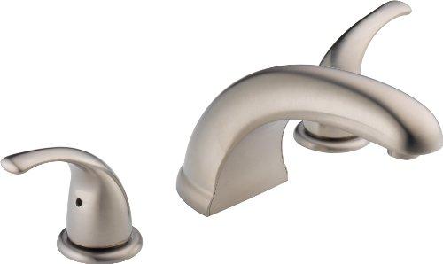 Peerless Tunbridge 2-Handle Widespread Roman Tub Faucet Trim Kit, Brushed Nickel PTT298510-BN (Valve Not Included)