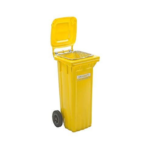 SSI Schäfer Großmülltonne aus Kunststoff, nach DIN EN 840, Volumen 80 l, HxBxT 935 x 448 x 372 mm, gelb - Abfallbehälter für außen Abfallbehälter für außen Abfallbehälter für außen Abfallbehälter für