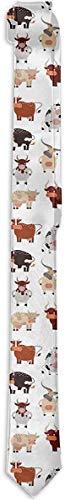 Funny Z Conjunto de Acción de Vaca de Dibujos Animados de Corbata para Hombre con Corbatas de Seda de Moda de Novilla Encantadora Linda Corbatas de Regalo Únicas