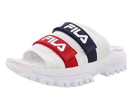 Fila Men's Outdoor Slide (8, White/Navy/Red)