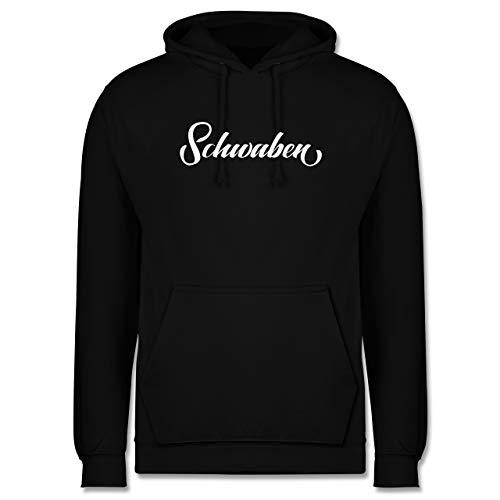 Schwaben Männer - Schwaben Lettering - 5XL - Schwarz - Schwaben Shirt - JH001 - Herren Kapuzen Pullover