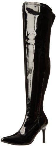 Pleaser Damen Lust-3000x Overknee-Stiefel, Ungef&UumlTtert, Black (Blk Str Pat), 41