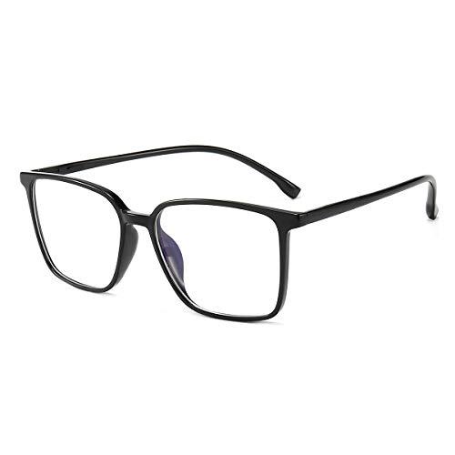 Blaulichtfilter Brille ComputerBrille Pc Gaming Blueblocker Glasses Anti Blaulicht Brille Ohne Sehstärke Damen Herren Schwarz