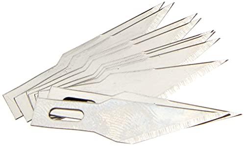 Wedo 7821 Ersatzklingen (für Skalpell und Hobbymesser, spitz, Kunststoffbox) 10 Stück, silber