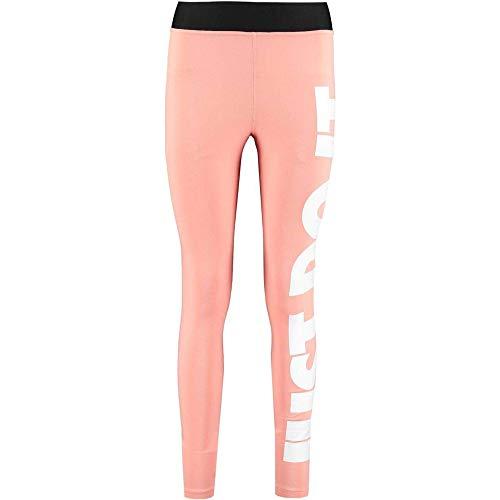 Nike Damen Legasee Leggings Hw Just Do It, Pink Quartz/White, M