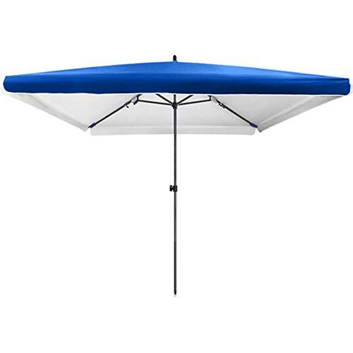 CHLDDHC Parasol Sombrilla Rectangular para Patio, Ajustable en Altura/Plegable, protección UV 50 +, Acero Espesado, Reforzado y Duradero