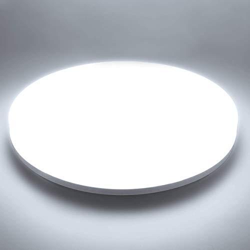 Plafoniera LED Soffitto Moderna 48W Plafoniere da Soffitto Ketom Bianco Freddo 6500K Ultra Magro Pannello LED Rotondo Ø30CM 4320LM IP44 Lampada da Soffitto per Corridoio, Bagno, Camera da letto