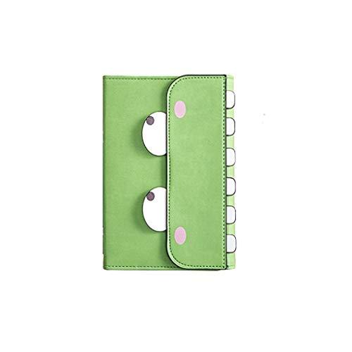 LCJQ Cuadernos de redacción Cuadernos Diario Diario de Bloc de Notas, Forrado de Papel del Cuaderno/Diario con Tapa Dura for el Suministro índice Escolares Papel (Color : Green)