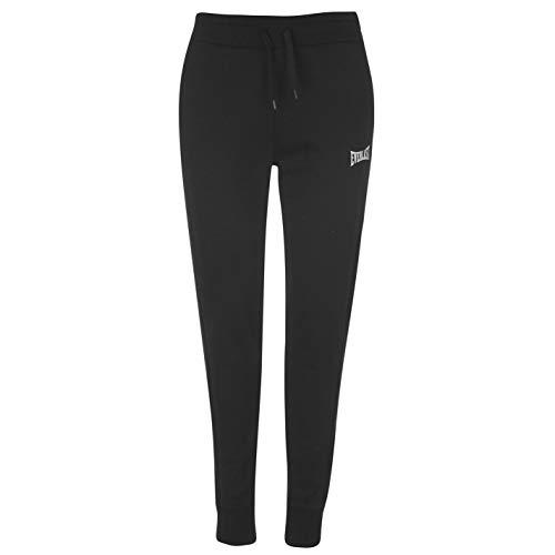Everlast - Pantalones de deporte para mujer con puños Negro S