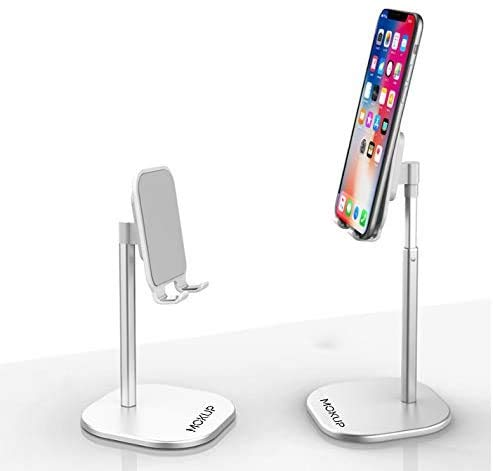 MOKUP Phone Stand, iPhone stand, Universal Multi Angle Aluminum cell phone Stand,elescopic Adjustable Stand Holder for 4.7-13 inch iPhone, Samsung, iPad stand, Kindle, eBook Reader phone holder(black)