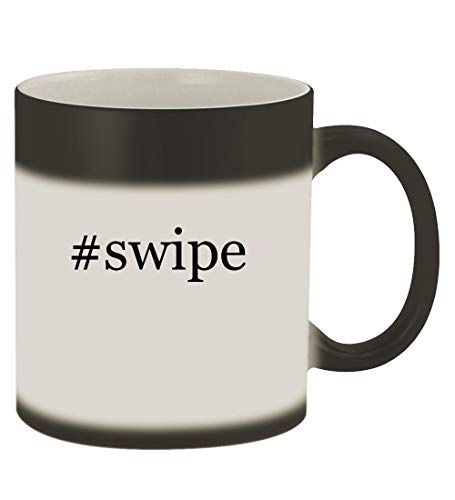 #swipe - 11oz Hashtag Magic Color Changing Mug, Matte Black