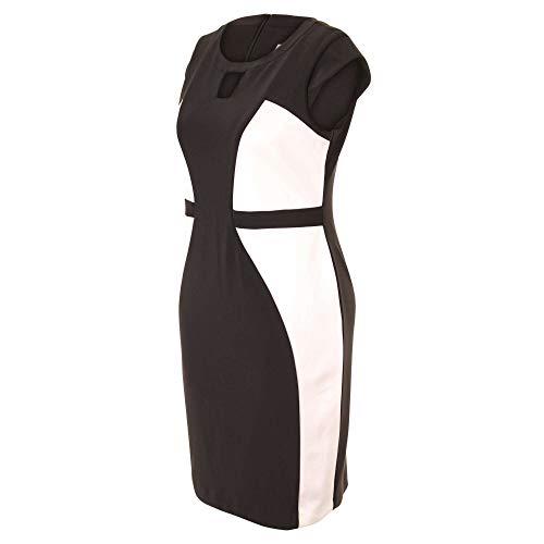 Joseph Ribkoff - zwart-wit etui jurk