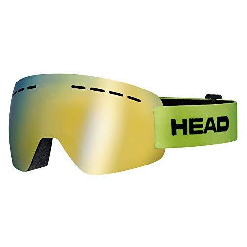 HEAD Unisex– Erwachsene SOLAR Skibrille, FMR Lime, L