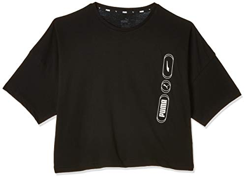 PUMA Rebel Fashion tee Camiseta, Mujer, Black, XL