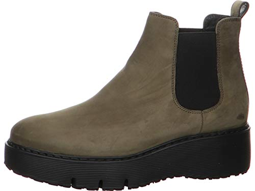 Paul Green Damen Chelsea-Boots, Frauen Stiefeletten, weiblich Lady Ladies feminin elegant Women's Women Woman Freizeit leger,Grün,6 UK / 39 EU