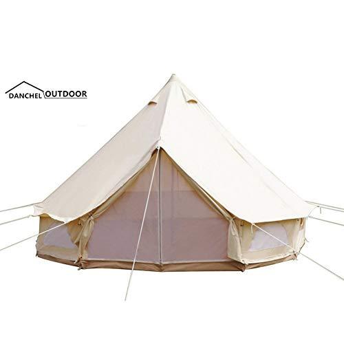 ZHJLOP tent 8-10 Persoon Mongolië Yurt Grote Tent Outdoor Waterdicht Oxford Family Tent voor Zelfrijdende Camping Wild Survival Vissen Picknick