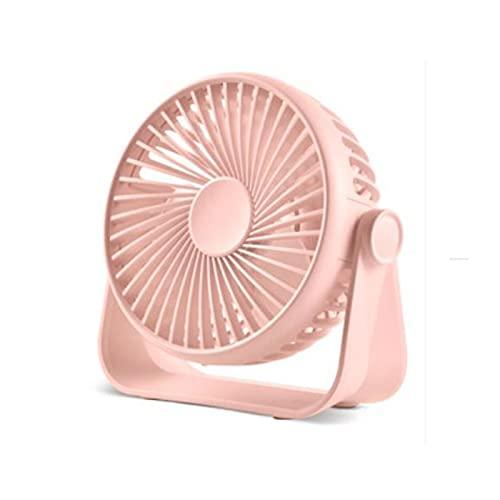 Pequeño ventilador portátil USB Servicio de alimentación Ventilador 3 velocidades Fuerte flujo de aire Mini ventilador 360 ° Rotación PERSONAL Ventilador de 5,1 pulgadas Ventilador de mesa para el hog