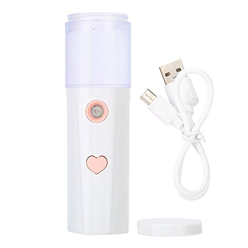 Face Mister 20 ml Nano Face Mister USB Rechargeable Handheld Portable Face Hydration Sprayer(blanc)
