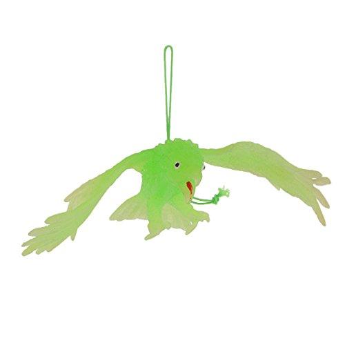 Coloré Simulation Plastique Aigle Faucon Animal Jouet Educatif Enfant Décor Halloween Fête - Vert