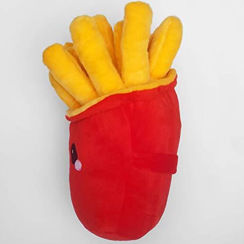 Pommes Plüsch Knuddelkissen in rot und gelb