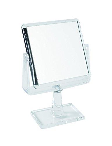 Gerson Miroir sur Pied Transparent Grossissant x 7 Carré 15,5 x 15,5 Haut 26 cm