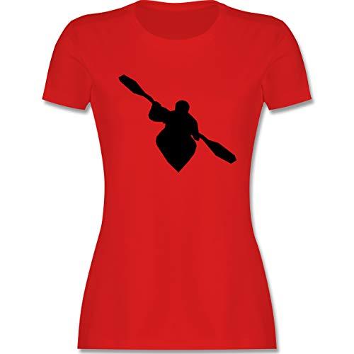 Wassersport - Kajak - S - Rot - Tshirt kajak Damen - L191 - Tailliertes Tshirt für Damen und Frauen T-Shirt