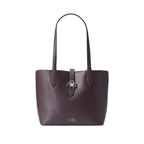 Kate Spade Kaci Leather Tote Bag, Chocolate Cherry