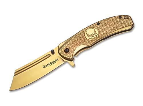 Magnum Unisex– Erwachsene Golden Skull Taschenmesser, 19,8 cm