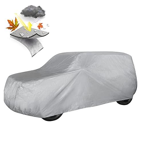 Walser 31020 Autoabdeckplane SUV Größe M hellgrau, wasserdichte Ganzgarage, Staubdicht mit UV Schutz