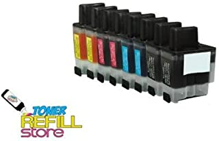 8 Pack Toner Refill Store ™ Brother Compatible LC41 Inkjet Cartridges (2BK, 2C, 2Y, 2M) for the Brother DCP-110C, DCP-120C, Intellifax 1840C, 1940CN, 2440C, MFC-210C, MFC-3240C, MFC-3340CN, MFC-420CN, MFC-5440CN, MFC-5840CN, MFC-620CN, MFC-640CW, MFC-820CW.