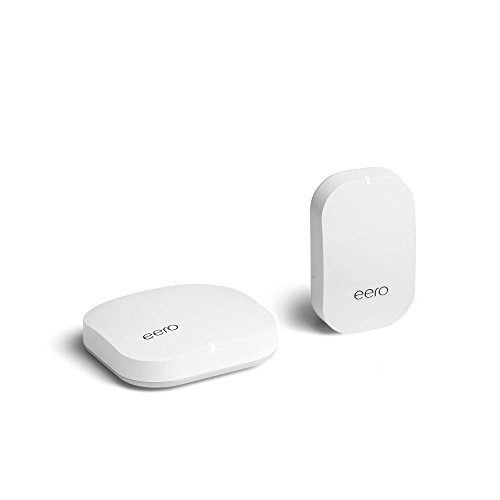 eero Home WiFi System (1 eero Pro + 1 eero Beacon) - Advanced Tri-Band Mesh WiFi System to Replace Traditional Routers and WiFi Ranger Extenders - Coverage: 1 to 2 Bedroom Home