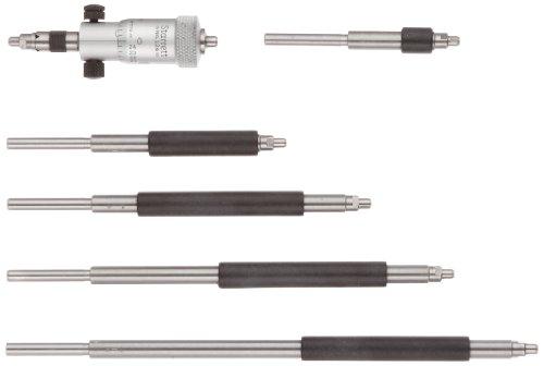 Starrett 124AZ: Juego de micrometros interiores de varilla sólida, rango de 5,7 cm, graduación de 0,001 pulgadas, precisión de +/-0,0001 pulgadas, con funda