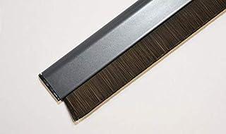 Merveilleux CONFORTEX 12073 Bas Porte Adh. Aluminium Avec Brosse Rétractable, Gris,  100cm X 0
