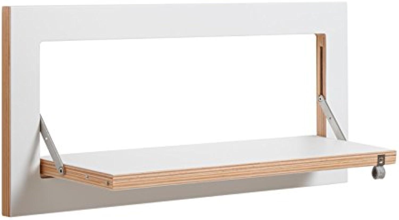 Ambivalenz - Regal - klappbar - Holz - Birke - wei - 60x27x2cm