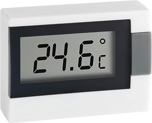 TFA Dostmann Digitales Thermometer, 30.2017.02, zur Messung der Innentemperatur, klein und handlich, weiß