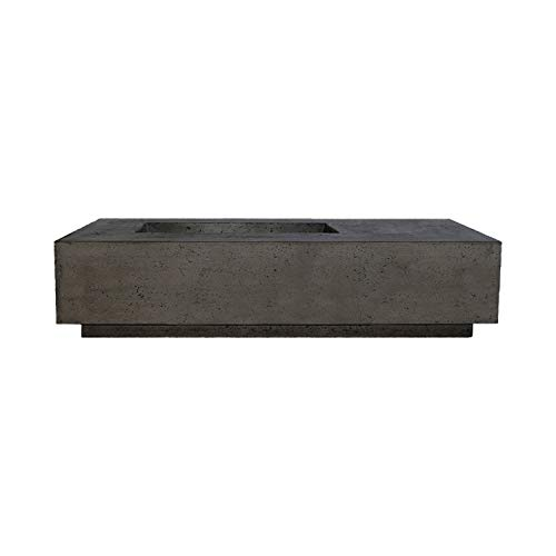 Fantastic Prices! Prism Hardscapes Tavola 5 Concrete Gas Fire Pit (PH-409-2NG), Natural Gas, Ebony, ...