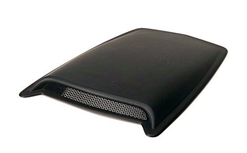 Auto Ventshade 80004 Large Single Hood Scoop with Smooth Black Finish