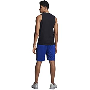Russell Athletic Men's Cotton Performance Sleeveless Muscle T-shirt,Black,Large