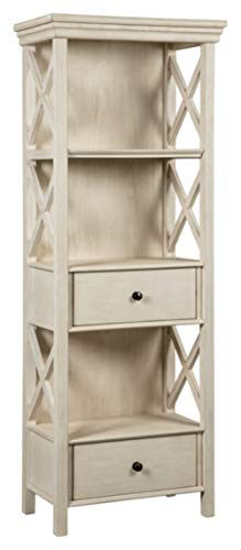 Signature Design By Ashley - Bolanburg Curio Cabinet - 2 Drawers and 3 Shelves - Casual Style - Antique White