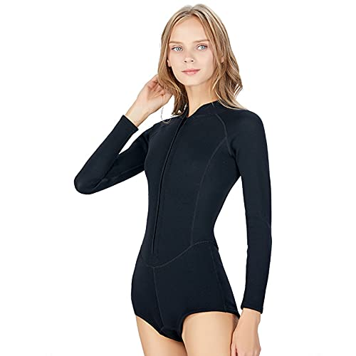 Traje de Neopreno de Bikini de 2 mm para Mujer, Bikini de una Pieza Traje de baño de Buceo de Secado rápido Calcetines de Buceo cálidos, Traje de Buceo de Neopreno protección Solar (M,Diving Bikini)