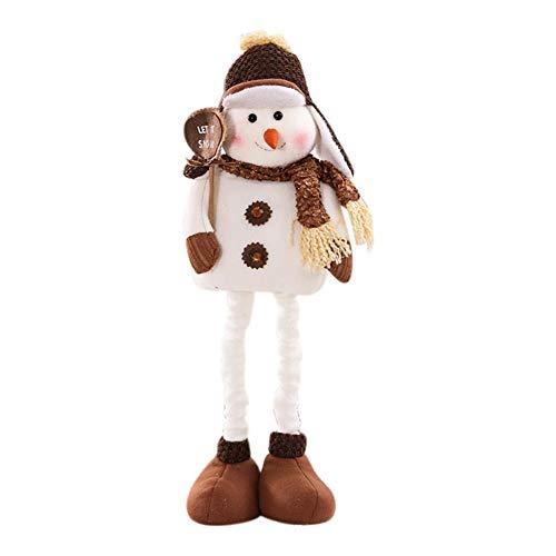 Brownrolly Kerstmis hanger hoogwaardige schaalbare sneeuwpop met muts sjaal geschenk decoratie geschikt voor familiebijeenkomsten kerstboom party 2019 B