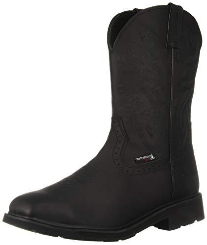Wolverine Men's Rancher Steel-Toe Waterproof Construction Boot, Black, 8 Extra Wide