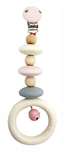 Hess 12817 - Holzspielzeug, Wagenhänger aus Holz, nature rosa