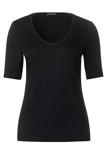 Street One Damen T-Shirt 313104 Palmira, Schwarz (Black 10001), 40